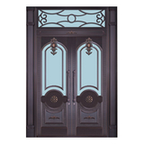 Glass copper art door -BL-9151