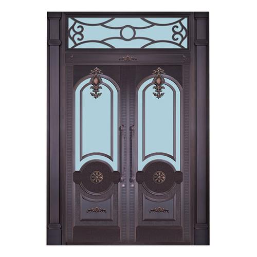 Glass copper art door-BL-9151