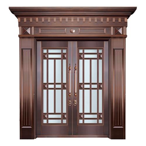 Glass copper art door-BL-9133