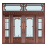 Glass copper art door -BL-9127