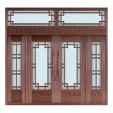 Glass copper art door -BL-9127