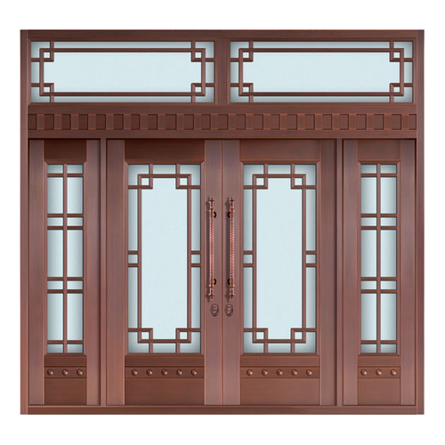 Glass copper art door-BL-9127