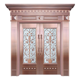 Glass copper art door -BL-9153