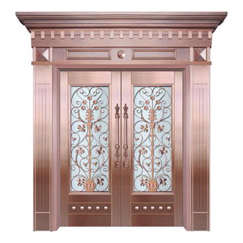 Glass copper art door-BL-9153