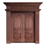 Wood craft bronze door -NW-9023