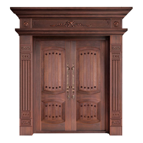 Wood craft bronze door-NW-9023