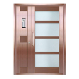 Copper art house apartment door -LY-9163