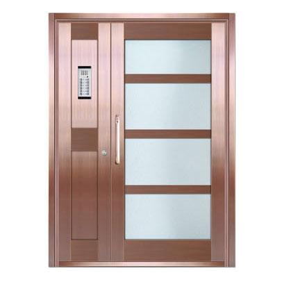 Copper art house apartment door-LY-9163