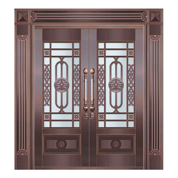 Glass copper art door-BL-9155