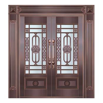 Glass copper art door-BL-9155