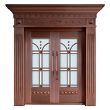 Glass copper art door -BL-9139