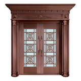 Glass copper art door -BL-9138