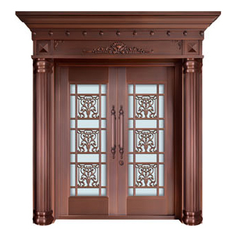 Glass copper art door-BL-9138