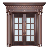 Glass copper art door -BL-9156
