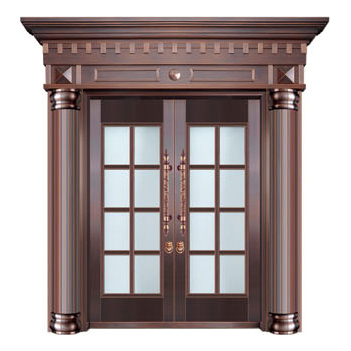 Glass copper art door-BL-9156