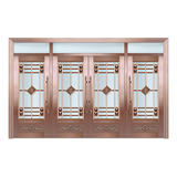 Glass copper art door -BL-9160
