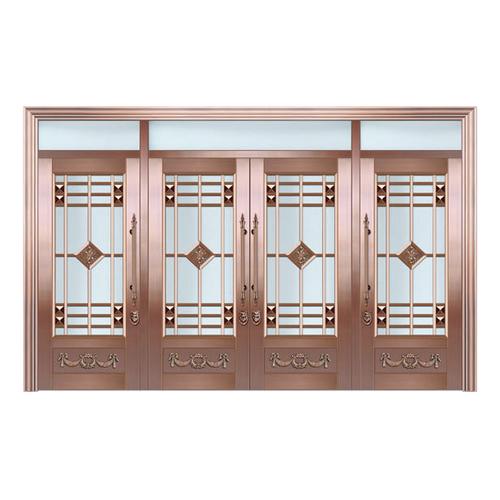 Glass copper art door-BL-9160