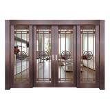 Glass copper art door -BL-9123