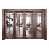 Glass copper art door -BL-9123