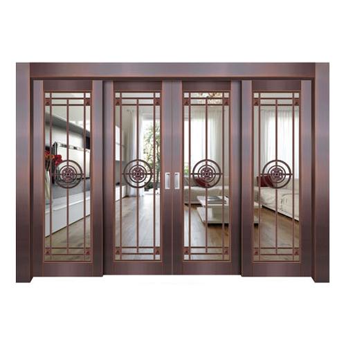 Glass copper art door-BL-9123