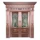 Glass copper art door-BL-9157