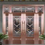Glass copper art door -BL-9126