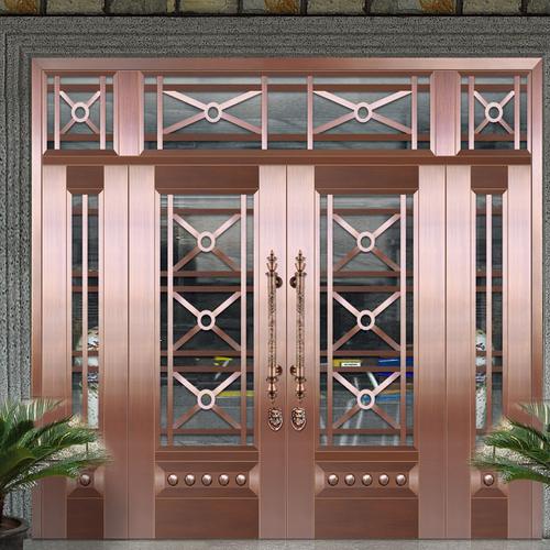 Glass copper art door-BL-9126