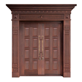 Wood craft bronze door -NW-9026