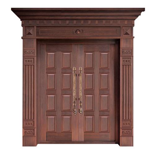 Wood craft bronze door-NW-9026