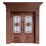 Glass copper art door -BL-9131