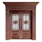 Glass copper art door -BL-9131