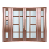 Copper art house apartment door -LY-9165