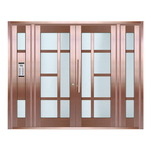 Copper art house apartment door-LY-9165