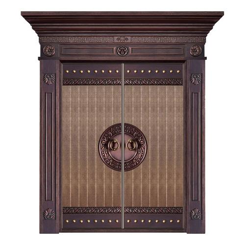 Wood craft bronze door-MW-9029