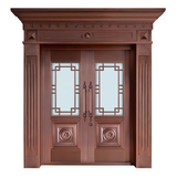 Glass copper art door -BL-9150