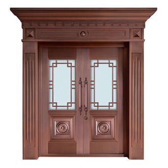 Glass copper art door-BL-9150