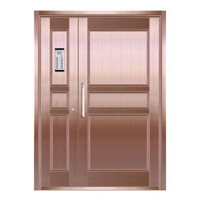 Copper art house apartment door-LY-9162