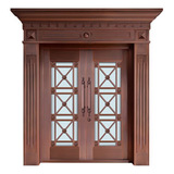 Glass copper art door -BL-9137