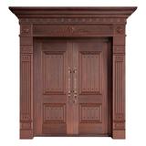 Wood craft bronze door -MW-9027