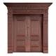 Wood craft bronze door-MW-9027