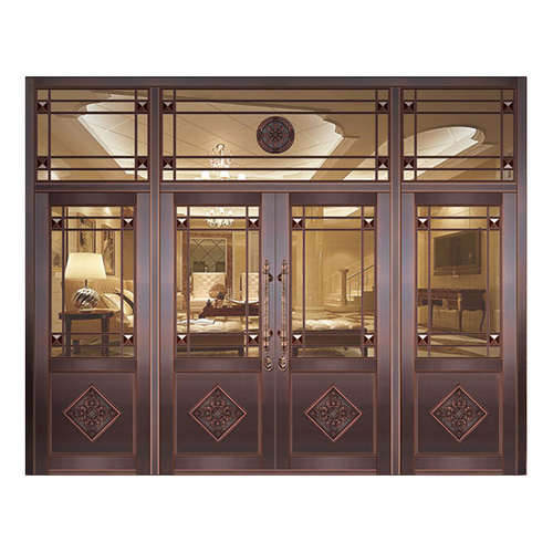 Glass copper art door-BL-9122