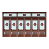 Glass copper art door -BL-9121