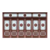 Glass copper art door -BL-9121