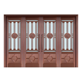Glass copper art door -BL-9129