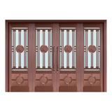 Glass copper art door -BL-9129