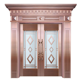 Glass copper art door -BL-9152