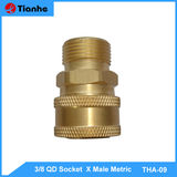 3/8 QD Socket  X Male Metric -THA-09
