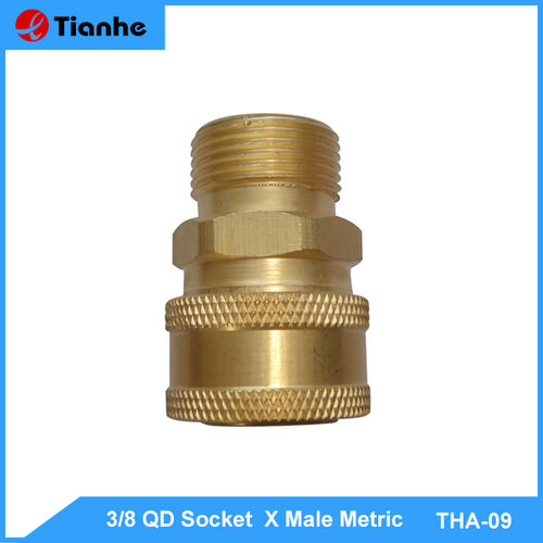 3/8 QD Socket  X Male Metric-THA-09