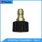 3/8 QD Plug  X Female Metric -THA-11