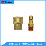QD Socket 1/4 F&M Plug Set-THA-01